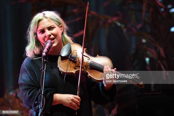 Vocalist / multiinstrumentalist Charity Rose Thielen of The Head and the Heart performs during the Signs of Light tour on September 26 2017 at Massey...