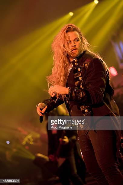 Vocalist Nathan James of American progressive rock group TransSiberian Orchestra performing live on stage at the Hammersmith Apollo in London on...