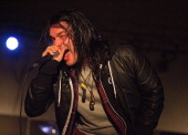 Vocalist Nicholas Matthews of Get Scared performs live in concert at The Emerson Theater on March 4 2014 in Indianapolis Indiana