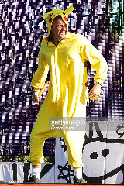 Vocalist Ninja of Die Antwoord performs during Hard Summer Music Festival at Fairplex on August 2 2015 in Pomona California