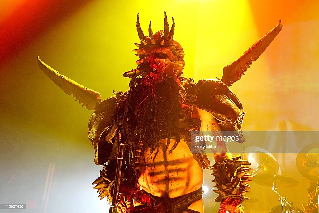 Vocalist Oderus Urungus performs in concert with GWAR at the Austin Music Hall on September 27 2009 in Austin Texas