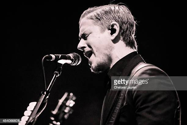 Vocalist Paul Banks of Interpol performs during day 1 of FYF Festival at Los Angeles Sports Arena on August 23 2014 in Los Angeles California