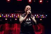 Vocalist Phil Anselmo of Superjoint performs at City National Civic on October 29 2015 in San Jose California