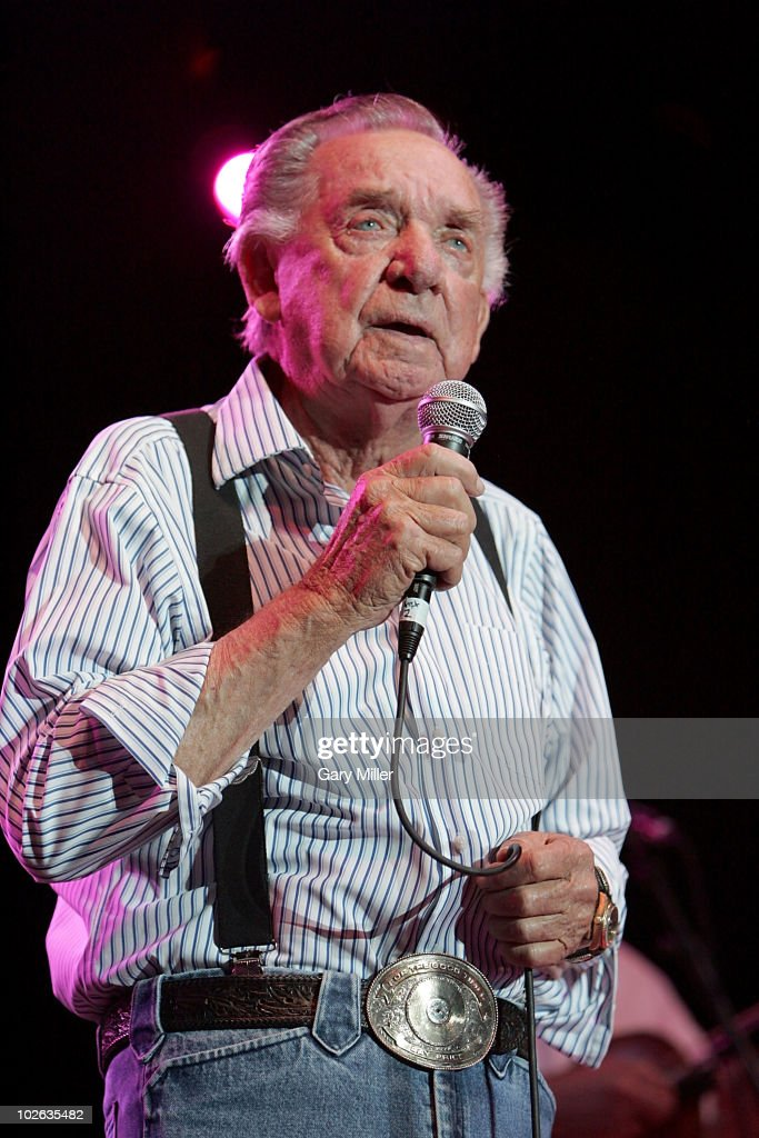 Vocalist Ray Price performs to a sold out crowd during Willie Nelson's 4th of July Picnic at The Backyard on July 4, 2010 in Austin, Texas.