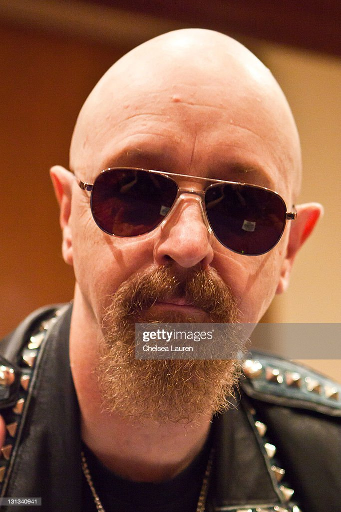 Vocalist Rob Halford of Judas Priest attends a press conference at Renaissance Hollywood Hotel on May 24, 2011 in Hollywood, California.