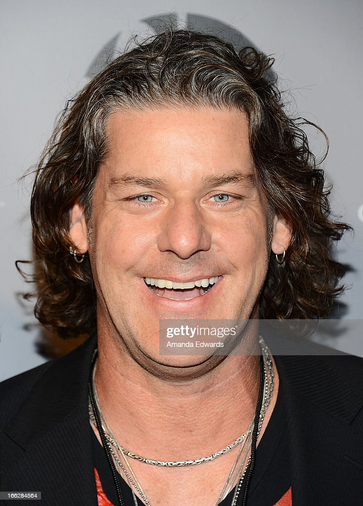 Vocalist Robbie Wyckoff arrives at the Heaven and Earth 'Dig' world premiere album release party at The Fonda Theatre on April 10, 2013 in Los Angeles, California.