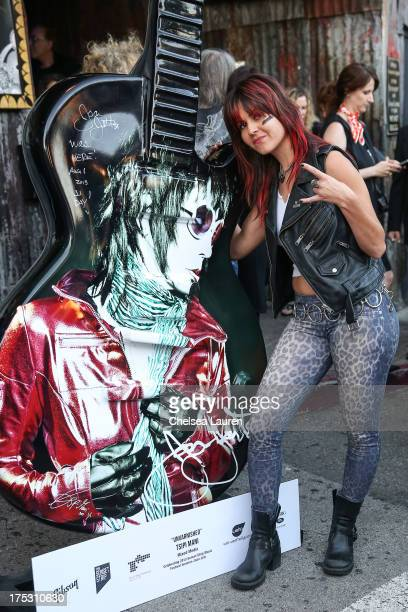 Vocalist Rosie of Rosie The Cobras arrives at the 6th annual Sunset Strip Music Festival launch party honoring Joan Jett at House of Blues Sunset...