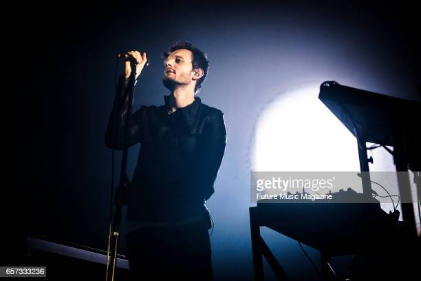 Vocalist Sascha Ring of German electronica group Moderat performing live on stage at Brighton Dome in Brighton on April 7 2016