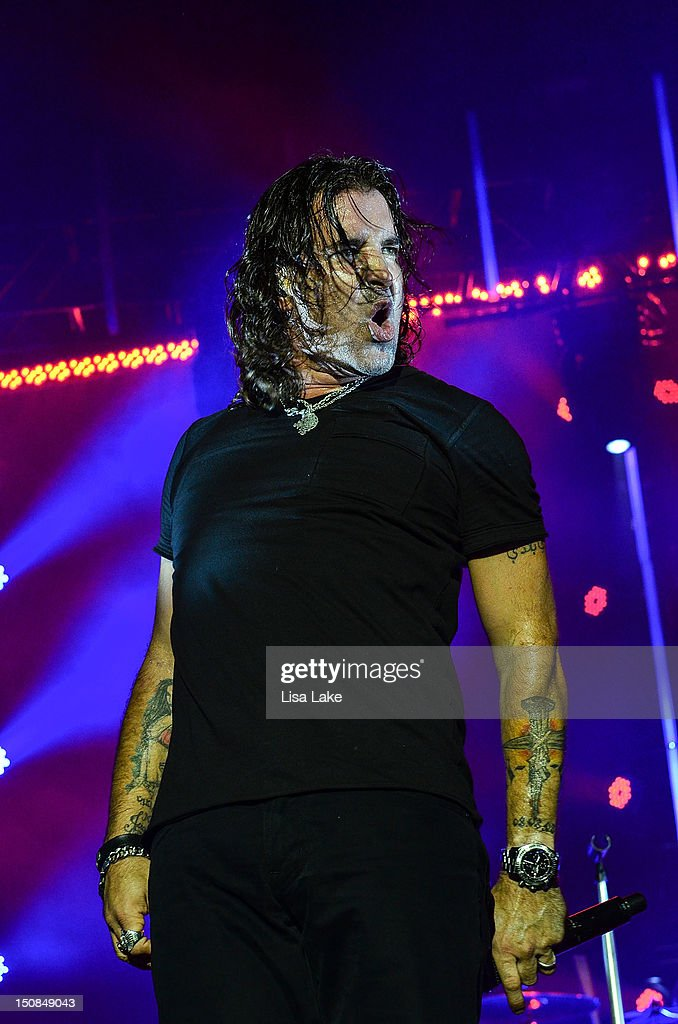 vocalist scott stapp of the band creed performs in concert at the sands event center on august. Black Bedroom Furniture Sets. Home Design Ideas