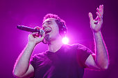 Vocalist Serj Tankian of System of a Down performs commemorating the 100th anniversary of the Armenian genocide at The Forum on April 6 2015 in...