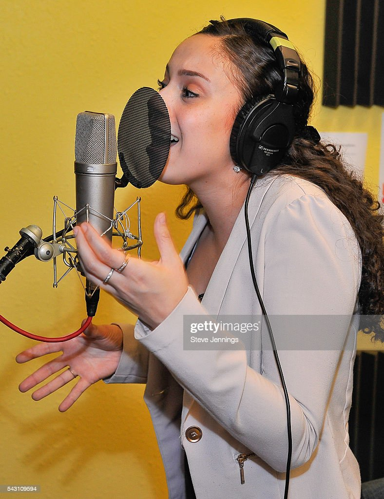 A vocalist sings at the GRAMMY Pro - Art Of The Craft: Vocal Production at Ex'pression College on June 18, 2016 in Emeryville, California.
