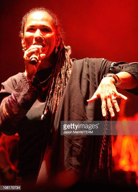 Vocalist Sister Nancy performs with 'Thievery Corporation' during the Vegoose Music Festival 2007 at Sam Boyd Stadium on October 27 2007 in Las Vegas...