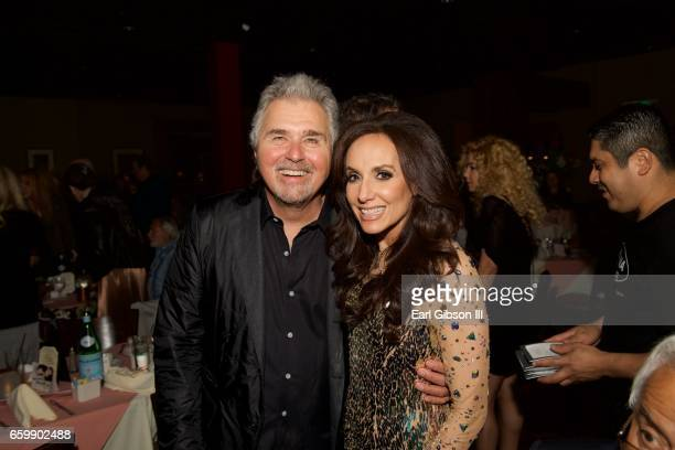 Vocalist Steve Tyrell and Jazz Singer Deborah Silver attend Deborah Silver's performance at Catalina Jazz Club Bar Grill on March 28 2017 in...