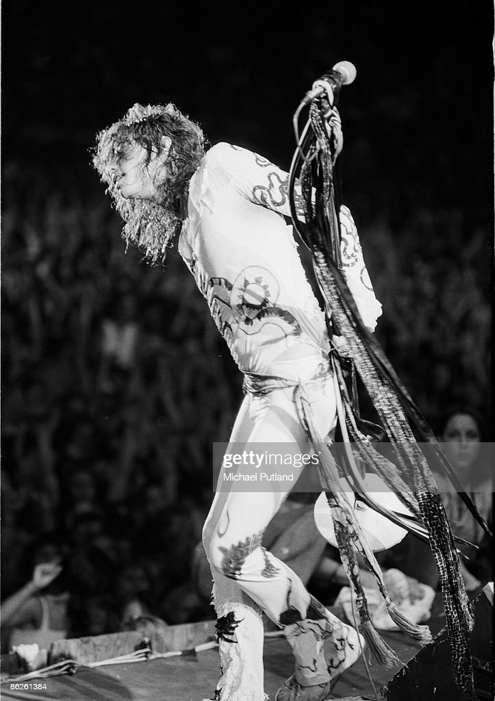 Vocalist Steven Tyler of American hard rock band Aerosmith in concert in Florida August 1979