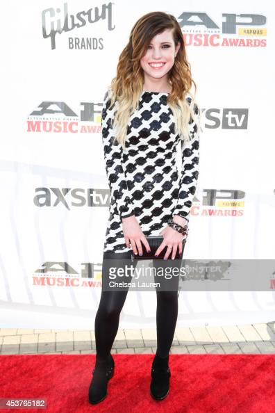 Vocalist Sydney Sierota of Echosmith attends the 2014 Gibson Brands AP Music Awards at the Rock and Roll Hall of Fame and Museum on July 21 2014 in...