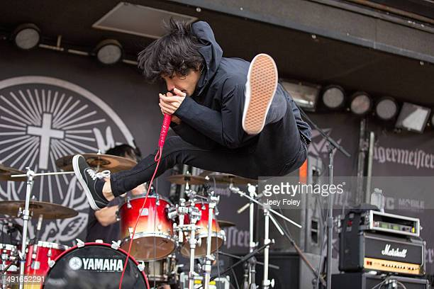 Vocalist Taka of the Japanese rock band One Ok Rock performs during 2014 Rock On The Range at Columbus Crew Stadium on May 16 2014 in Columbus Ohio