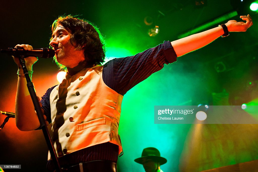 Vocalist Tom Higgenson of Plain White T's performs at El Rey Theatre on October 7, 2011 in Los Angeles, California.