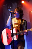 Vocalist Tom Higgenson of Plain White T's performs at El Rey Theatre on October 7 2011 in Los Angeles California