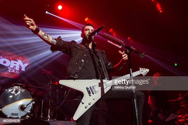 Vocalist Tyler Connolly of Theory of Deadman performs at The Masonic Auditorium on January 30 2015 in San Francisco California