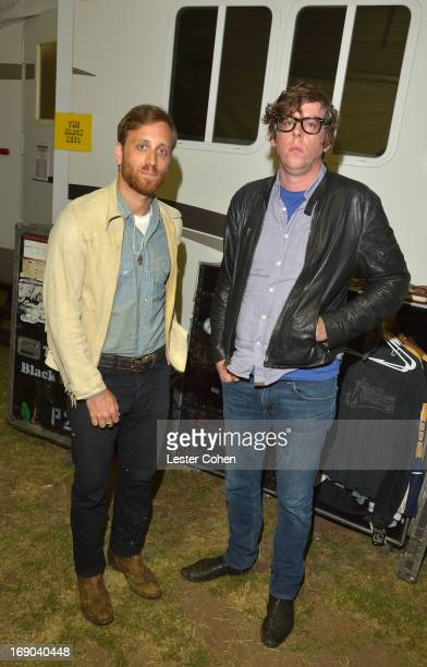 Vocalist/guitarist Dan Auerbach and vocalist/drummer Patrick Carney of The Black Keys backstage at KROQ Weenie Roast Y Fiesta at Verizon Wireless...