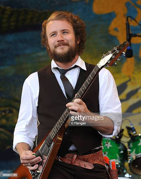 Vocalist/Guitarist Jim James of My Morning Jacket performs at the 41st Annual New Orleans Jazz Heritage Festival Presented by Shell at the Fair...