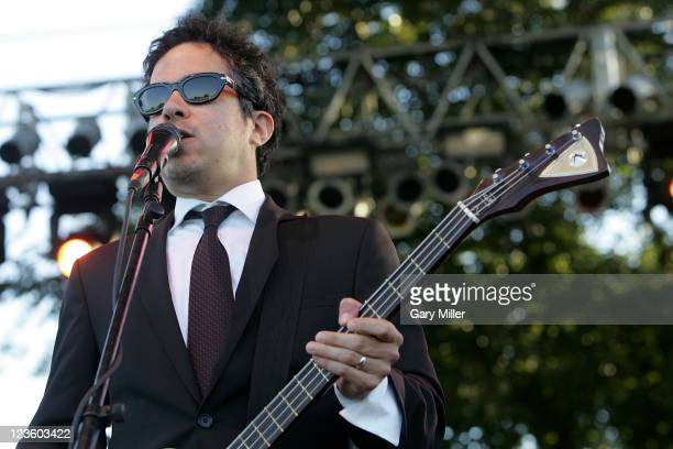 Vocalist/musician M Ward performs with Monsters Of Folk during the second day of the Austin City Limits music Festival at Zilker Park on October 9...