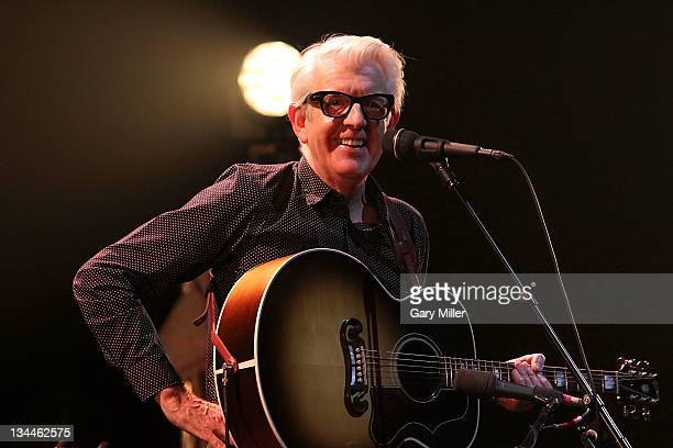 Vocalist/musician Nick Lowe performs in concert at ACL Live on December 1 2011 in Austin Texas