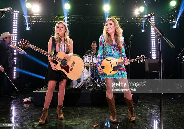 Vocalists Taylor Dye and Madison Marlow of the musical duo Maddie and Tae perform at the 'Reba and Friends Outnumber Hunger' concert event on Tuesday...