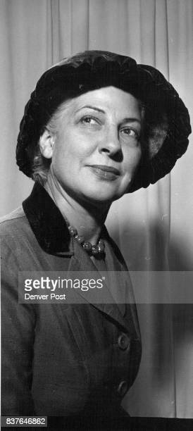Vocational school president Mrs George Saunders wears a cocoa beaver chapeau finished with a brim of pleated velvet Credit Denver Post