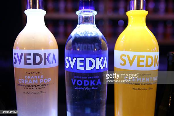 Vodka on display at Hilarity for Charity's annual variety show James Franco's Bar Mitzvah benefiting the Alzheimer's Association presented by Funny...