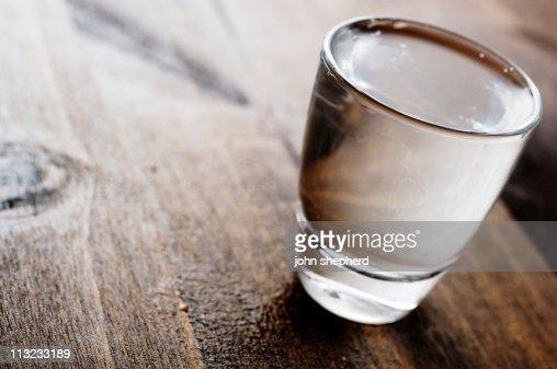 vodka shot glass back lit