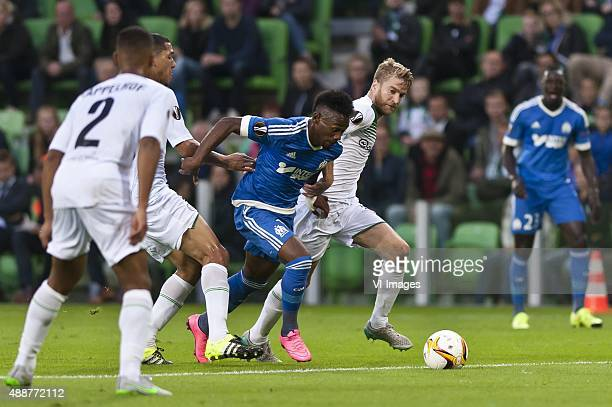 1792015UEFA Fc Groningen vs Olympique de MarseilleMichael de Leeuw of FC GroningenGeorgesKvin N'Koudou of Olympique de Marseille during the UEFA...