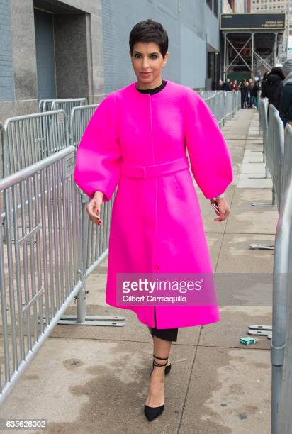 Vogue Arabia's launch editorinchief owner of DêNA Princess Deena Aljuhani Abdulaziz is seen arriving to the Michael Kors Collection Fall 2017 runway...