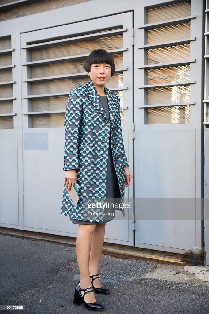 Vogue China editor in chief Angelica Cheung during the Milan Fashion Week Spring/Summer 16 on September 26 2015 in Milan Italy