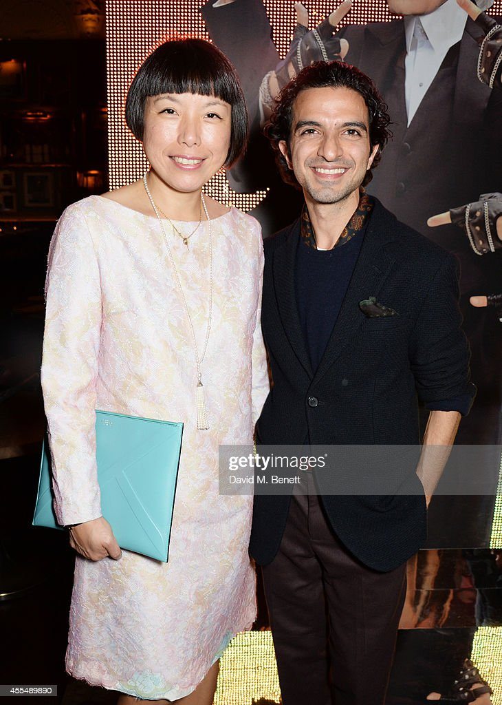Vogue China editorinchief Angelica Cheung and Business of Fashion founder and editorinchief Imran Amed attend The Business of Fashion celebrating the...