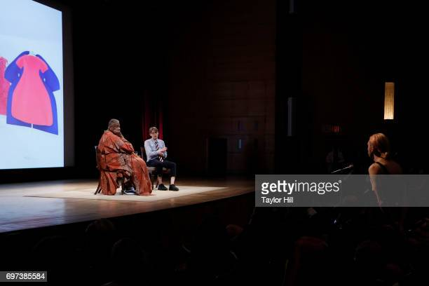 Vogue Contributing Editor Andre Leon Talley and Head Curator of the Costume Institute Andrew Bolton give a talk regarding 'Rei Kawakubo/Comme des...