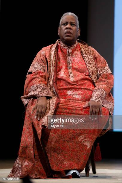Vogue Contributing Editor Andre Leon Talley speaks regarding 'Rei Kawakubo/Comme des Garcons Art of the InBetween' during 'Sunday At The Met Andrew...