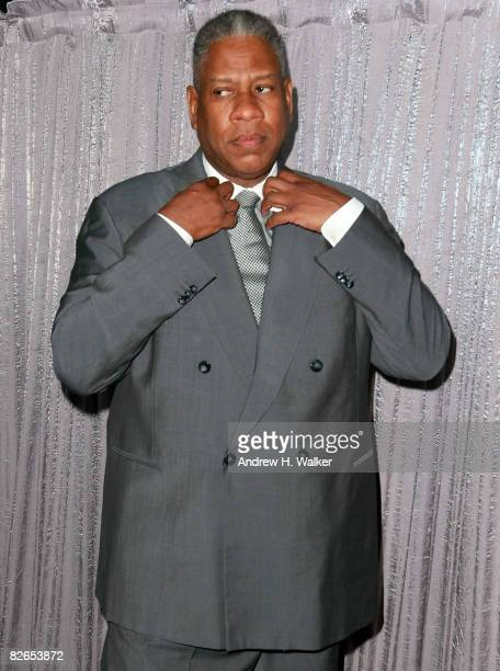 Vogue editor Andre Leon Talley attends the 2008 Honoree Artistry of Fashion Award presented by the Museum at FIT at the Rainbow Room September 3 2008...