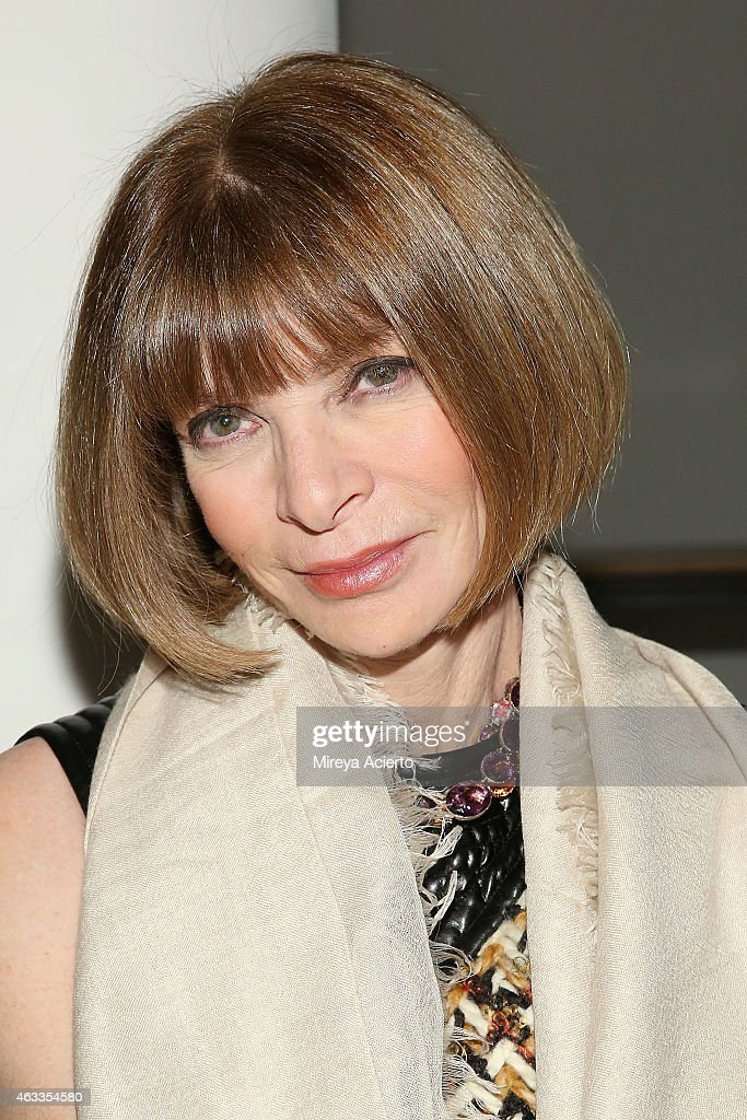Vogue Editor <a gi-track='captionPersonalityLinkClicked' href=/galleries/search?phrase=Anna+Wintour&family=editorial&specificpeople=202210 ng-click='$event.stopPropagation()'>Anna Wintour</a> attends Wes Gordon runway show during MADE Fashion Week Fall 2015 at Milk Studios on February 13, 2015 in New York City.