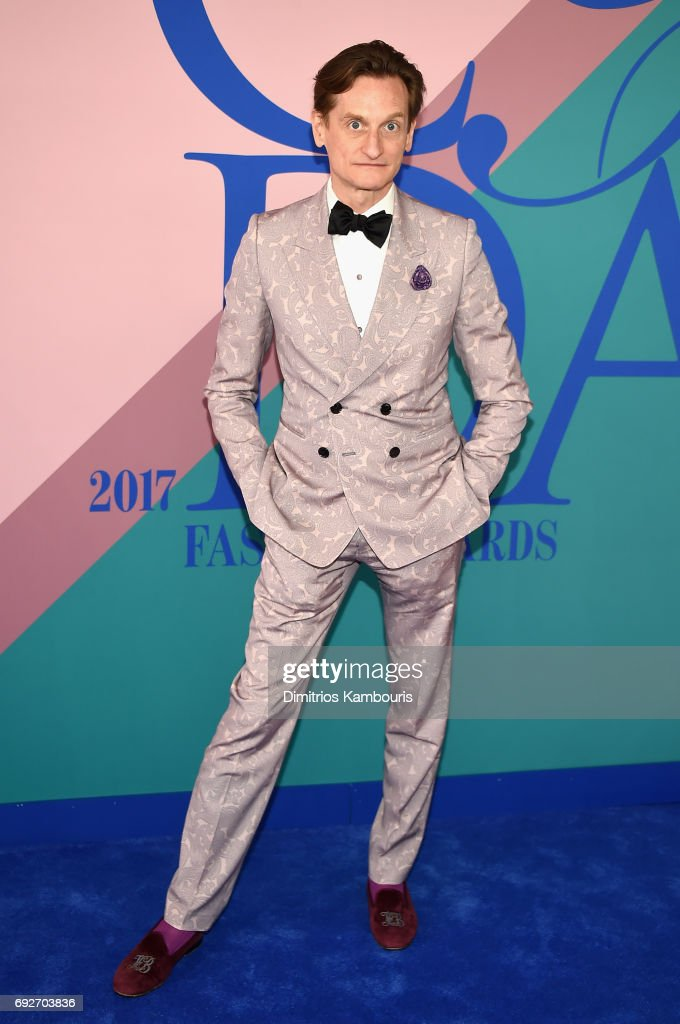 Vogue editor Hamish Bowles attends the 2017 CFDA Fashion Awards at Hammerstein Ballroom on June 5, 2017 in New York City.
