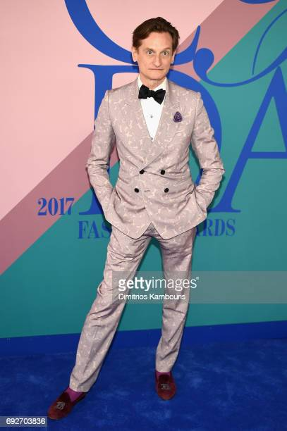 Vogue editor Hamish Bowles attends the 2017 CFDA Fashion Awards at Hammerstein Ballroom on June 5 2017 in New York City