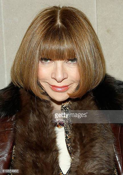 Vogue Editor in Chief and Conde Nast artistic director Anna Wintour attends the Carolina Herrera Fall 2016 fashion show during New York Fashion Week...