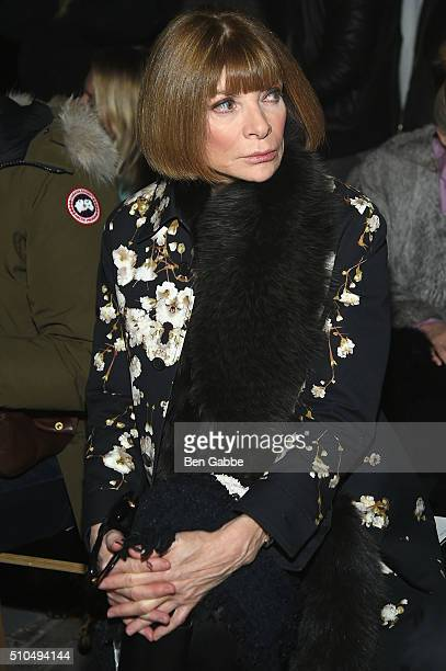 Vogue Editor in Chief and Conde Nast artistic director Anna Wintour attends the rag bone Fall 2016 fashion show during New York Fashion Week on...