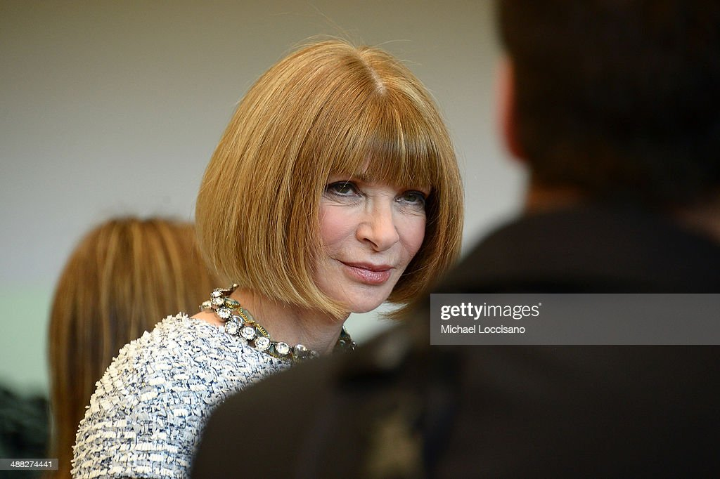 Vogue Editor in Chief <a gi-track='captionPersonalityLinkClicked' href=/galleries/search?phrase=Anna+Wintour&family=editorial&specificpeople=202210 ng-click='$event.stopPropagation()'>Anna Wintour</a> attends the <a gi-track='captionPersonalityLinkClicked' href=/galleries/search?phrase=Anna+Wintour&family=editorial&specificpeople=202210 ng-click='$event.stopPropagation()'>Anna Wintour</a> Costume Center Grand Opening at the Metropolitan Museum of Art on May 5, 2014 in New York City.