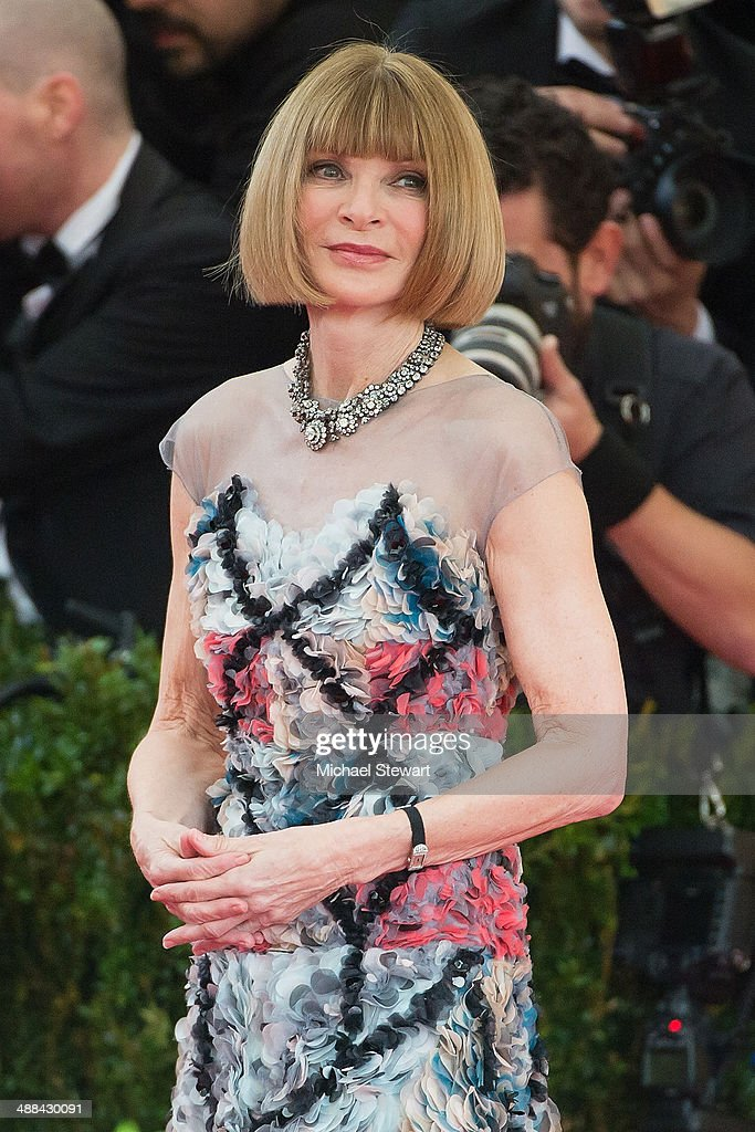 Vogue Editor in Chief Anna Wintour attends the 'Charles James: Beyond Fashion' Costume Institute Gala at the Metropolitan Museum of Art on May 5, 2014 in New York City.