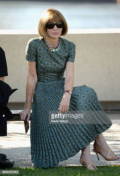 Vogue Editor in Chief Anna Wintour attends the Kanye West Yeezy Season 4 fashion show on September 7 2016 in New York City