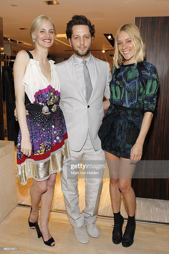 Vogue editor Lauren Santo Domingo, writer Derek Blasberg, and actress Chloe Sevigny attend the book party for Derek Blasberg's 'Classy' at Barneys New York on April 6, 2010 in New York City.
