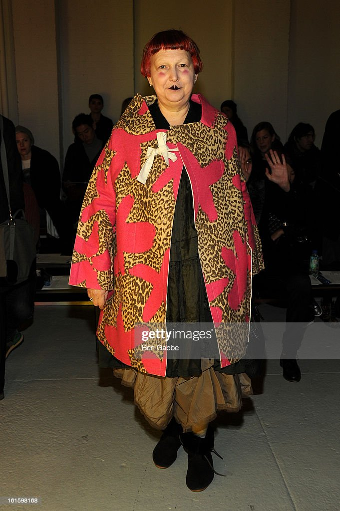 Vogue editor Lynn Yaeger attends the Rodarte Fall 2013 fashion show during Mercedes-Benz Fashion Week at 548 West 22nd Street on February 12, 2013 in New York City.