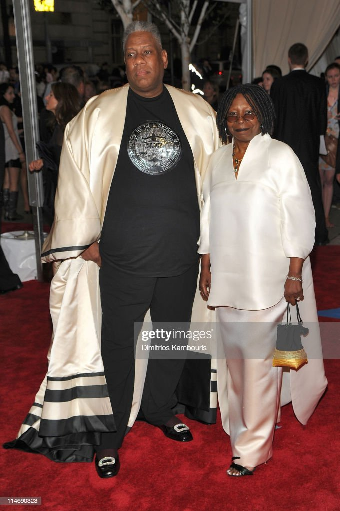 Vogue Editor-at-Large Andre Leon Talley and actress Whoopi Goldberg attend the Costume Institute Gala Benefit to celebrate the opening of the 'American Woman: Fashioning a National Identity' exhibition at The Metropolitan Museum of Art on May 3, 2010 in New York City.