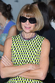 Vogue editorinchief and Conde Nast artistic director Anna Wintour attends the Calvin Klein Collection Spring 2016 fashion show during New York...